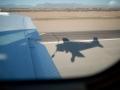 Landung auf einem kleinen Flughafen in der Wüste Arizonas.