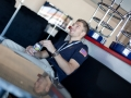 Ausruhen und Entspannung im Aufenthaltsraum nach der Flugstunde.